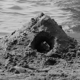 Sand castle  by Patricia Vleeming - Nature Up Close Sand