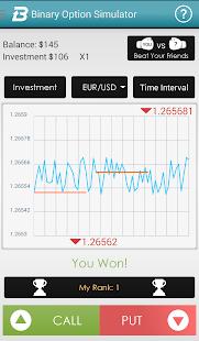 Binary option trading simulator