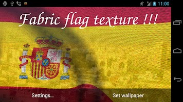 Screenshot of 3D Spain Flag Live Wallpaper +