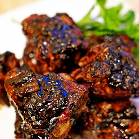 Roasted Garlic Balsamic Glazed Lamb Loin Chops