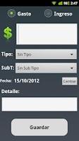 Screenshot of Control de Gastos Mensuales