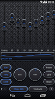 Screenshot of Poweramp skin Carbon Fiber