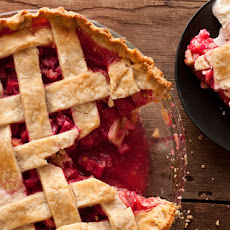 Latticed Rhubarb Pie Recipe