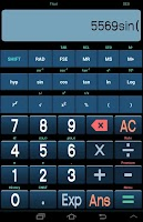 Screenshot of Android Scientific Calculator