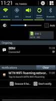Screenshot of MTN WiFi Roaming