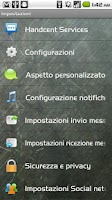 Screenshot of Handcent SMS Italian Language