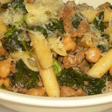 Penne with Sausage, Beans and Broccoli Rabe (Rapini)