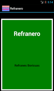 Refranero - screenshot