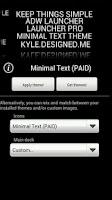 Screenshot of Minimal Text THEME - FREE