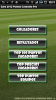 Screenshot of Euro 2012 Puntos Comunio Pro