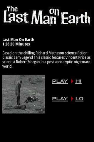 The Last Man On Earth Film