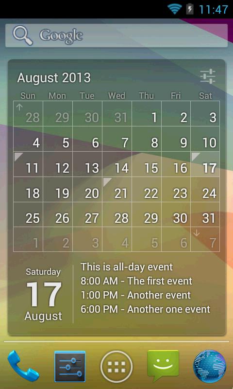 Виджеты гугл календарь на