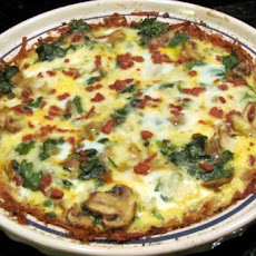 Mushroom and Spinach Quiche With Potato Crust