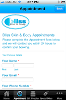 Screenshot of Bliss Skin & Body