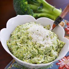 Asiago Mashed Potatoes and Broccoli