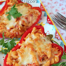Baked Chicken Ziti Stuffed Peppers