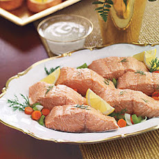 Poached Salmon with Mustard Sauce