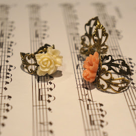 Flower rings by Shona McQuilken - Artistic Objects Jewelry ( music, bronze, jewellery, rings, flower, object, artistic, jewelry )
