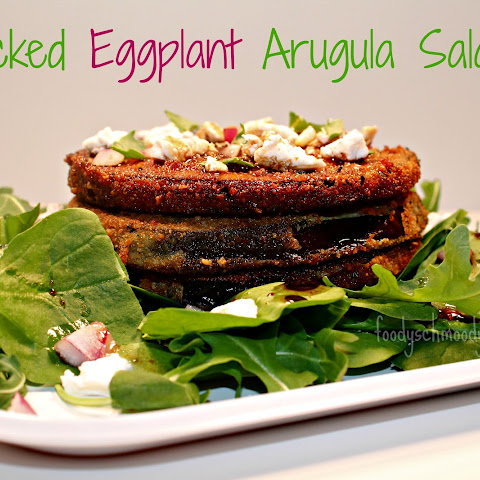 Stacked Eggplant Arugula Salad
