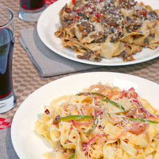 Mario Batali's Fettuccine with Lemon, Hot Peppers, and Pecorino Romano