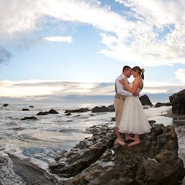 I do by Melissa Papaj - Wedding Bride & Groom ( love, wedding, ocean, beach, landscape, bride, romance, groom )