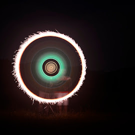 CD - light painting by Iulia Radu - Abstract Light Painting ( abstract, light painting, lightpainting, fireworks, circle, light, cd,  )