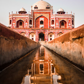 Humayun Tomb by Ashish Jain - Buildings & Architecture Statues & Monuments ( tomb, ashish, oddlens, jain, monument, isa khan, evening, humayun, delhi )