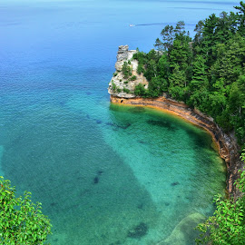 Miners' Castle  by Christi Northam - Landscapes Waterscapes ( waterscape, lake superior,  )