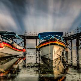 Siblings  by Ade Irgha - Transportation Boats ( explore bali, bali, airimagebali.com, boats, bridge )