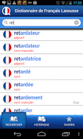Screenshot of French Larousse dictionary
