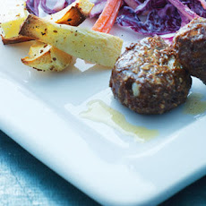 Venison Meatballs With Baked Root Veg