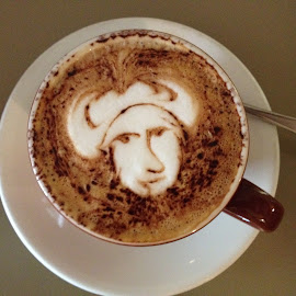 Coffee Face by Dawn Simpson - Food & Drink Alcohol & Drinks ( face, drink, coffee, cafe, barista )