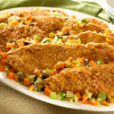 Savory Turkey Cutlets With Sauteed Vegetables