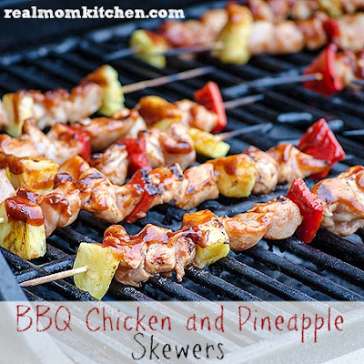 BBQ Chicken and Pineapple Skewers