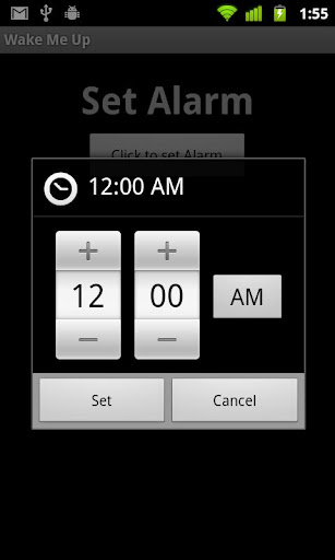 Wake Me Up Alarm Application