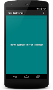 Four Beat Tempo - Tap for BPM - screenshot