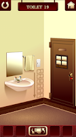 "Screenshot of 100 Toilets ""room escape game"""