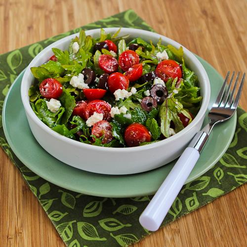 Baby Kale Greek Salad Recipe | Yummly