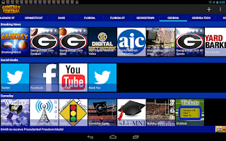 Screenshot of Gameday Central - NCAA News