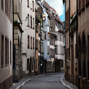 A side street in Strasbourg by Almas Bavcic - City,  Street & Park  Historic Districts