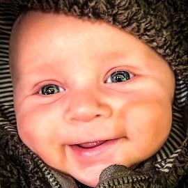 Tee heee by Shawn Klawitter - Babies & Children Babies ( love, children, son, kids, smiling )