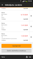 Screenshot of Swedbank Latvia