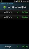 Screenshot of Quit Smoking Log