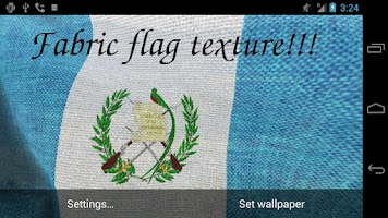 Screenshot of 3D Guatemala Flag LWP +