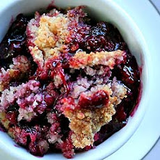Berry Cobbler with Coconut Walnut Topping