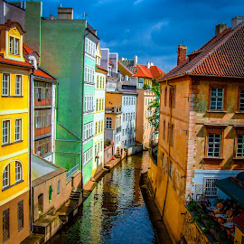 Prague Canal by Innocensia Salazar - Buildings & Architecture Public & Historical ( water, czechrepublic, market, vacation, color, street, czech, travel, places, canal, prague,  )