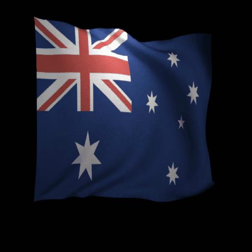 Australia Flag Live Wallpaper 個人化 App LOGO-APP試玩