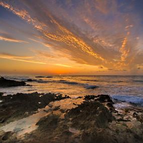 by Cristobal Garciaferro Rubio - Landscapes Sunsets & Sunrises ( shore, sand, rise, sea, rocks, wate )