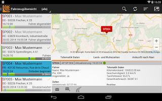Screenshot of SPEDION Portal App