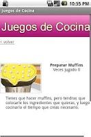 Screenshot of Juegos de Cocina